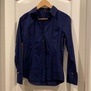 Express button down blouse navy